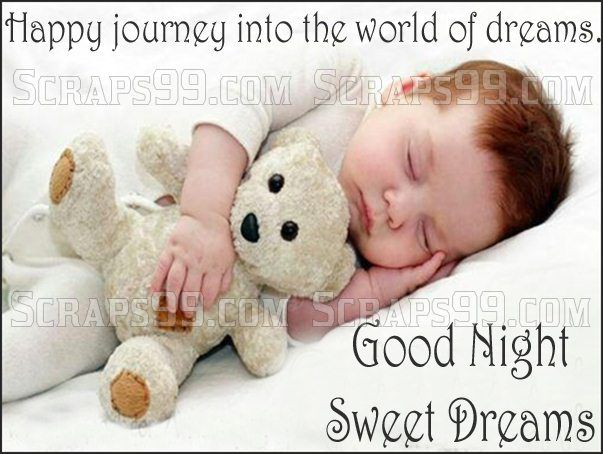Baby Sleeping Good Night Cute Pictures Sweet Dreams Scraps Kids