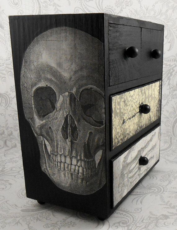 Bon Black And White Skull Skeleton Vintage Anatomy By Pzcreations22 On My To Do  List U003d Paint Skull On Dresser