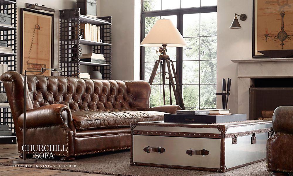 Churchill Sofa Restoration Hardware In 2019