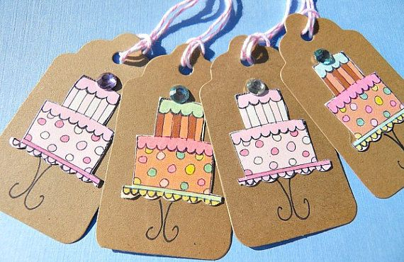 Birthday Gift Tags Kraft Tags Thank You Tags by suziescards, $6.00