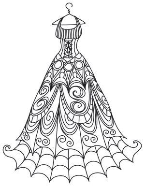 Spooky Delicate Dress Design Uth6956 From Urbanthreads Com
