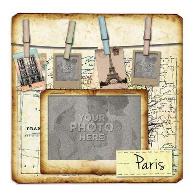 Paris Template *Travel Journal Scrapbooking Layouts Digital kits - travel log template