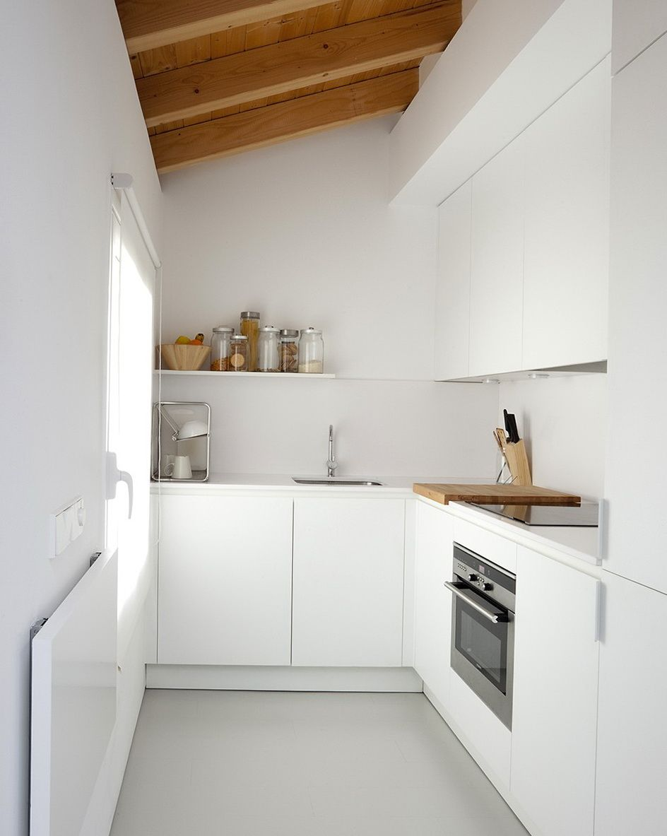 Small white apartment kitchens - White Kitchen Modern Day Interior Of A Small Two Story Apartment Architecture