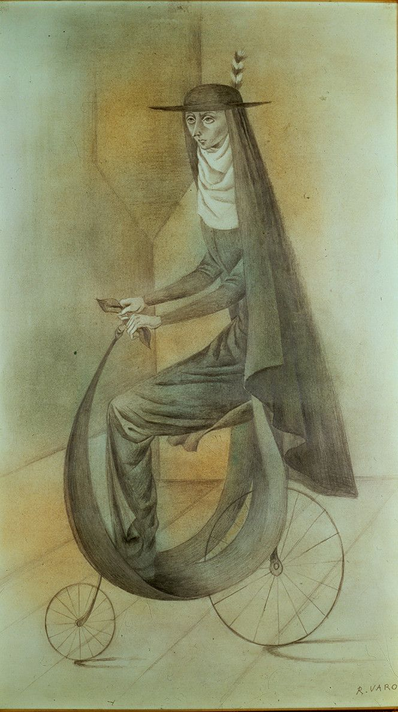 Cat.324-Monja-En-Bicicleta-1961 - Remedios Varo's artwork, so striking