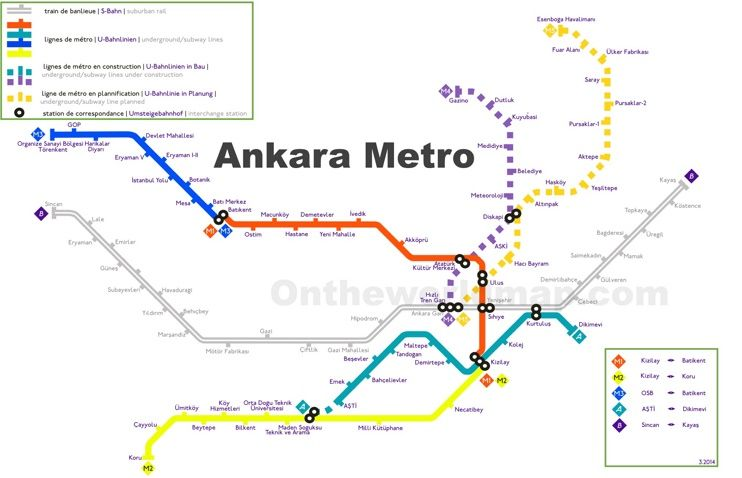 Ankara metro map Maps Pinterest City