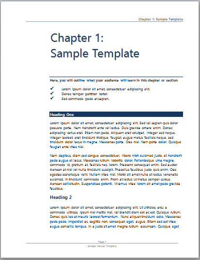 Good Free Training Manual Template Word 10 Training Manual Template Free Sample  Example Format Free, Manual Template 2 Technical Manual Template How To  Create A, ... Inside Manual Format Template