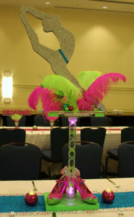 Dance, Jazz Themed Bat Mitzvah Centerpiece from Give 'Em Props ... on the worm dance, the hippo dance, the dog dance, the orc dance, the bee dance, the hat dance, the crab dance, the duck dance, the bird dance, the tiger dance, the bear dance, the deer dance, the ball dance, the snake dance, the butterfly dance, the pumpkin dance, the rabbit dance, the dolphin dance, the dragon dance, the dagger dance,