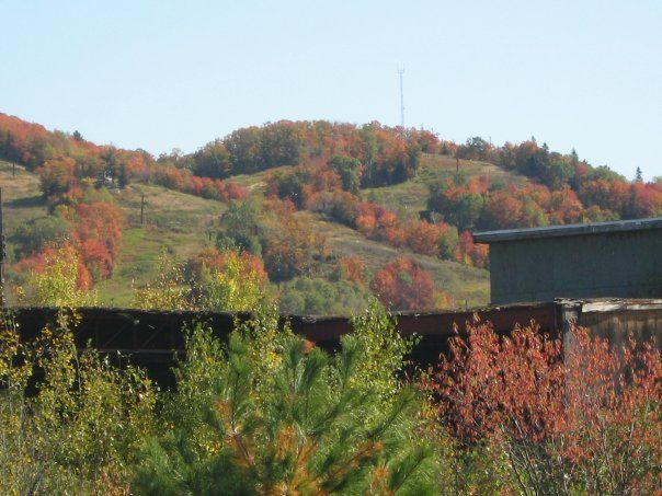 Searchmont Ski Hill in Autumn--Searchmont Ontario....photo by Pamela