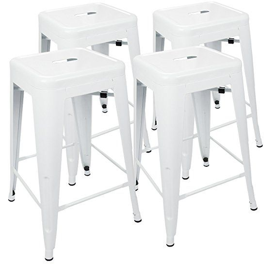 urbanmod 24 metal bar stool by white counter stools set of 4
