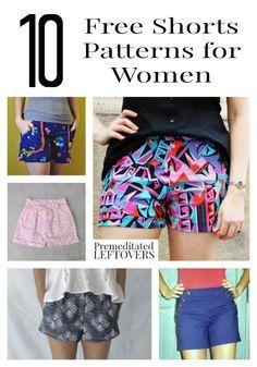 10 Free Shorts Patterns for Women   Free shorts pattern, Short ...