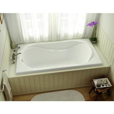 Maax Bath White Velvet 60 Inch Drop In Soaker Tub 102743 000