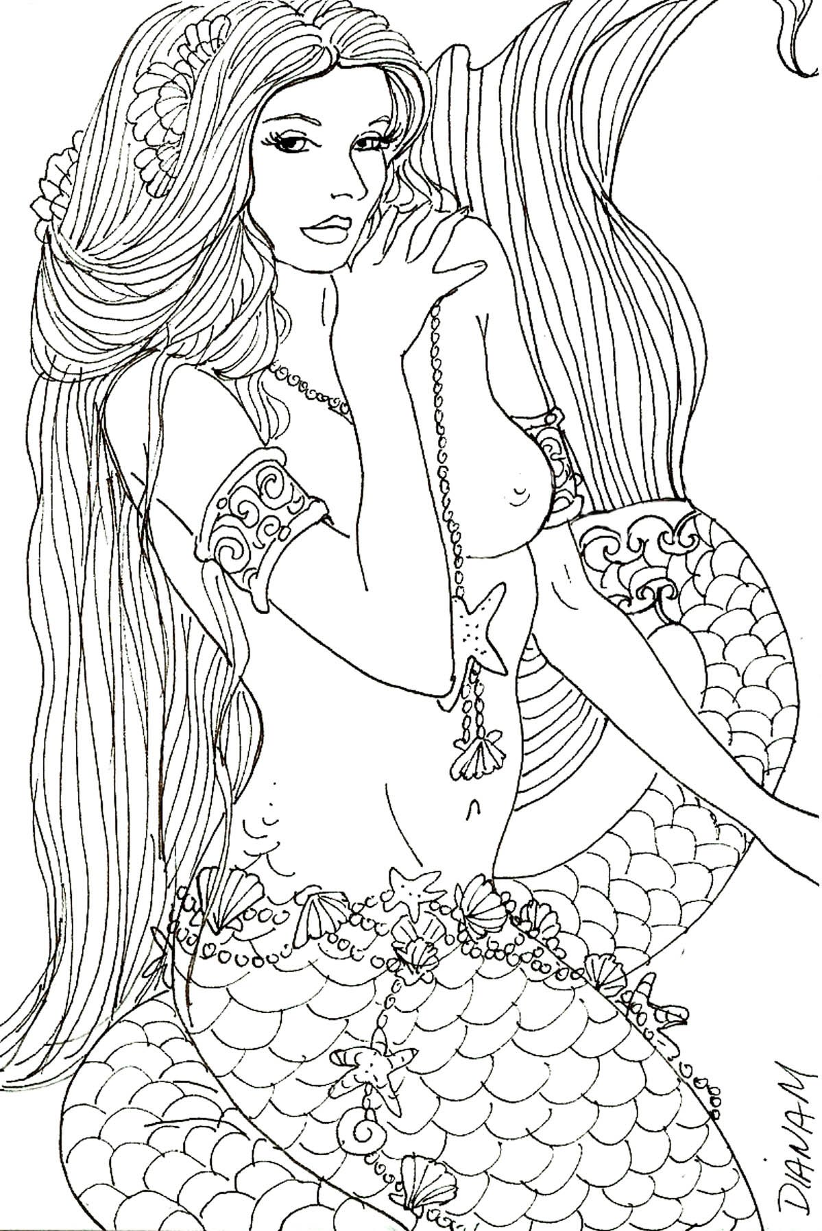 a little shy by artist diane s martin mermaid fantasy myth