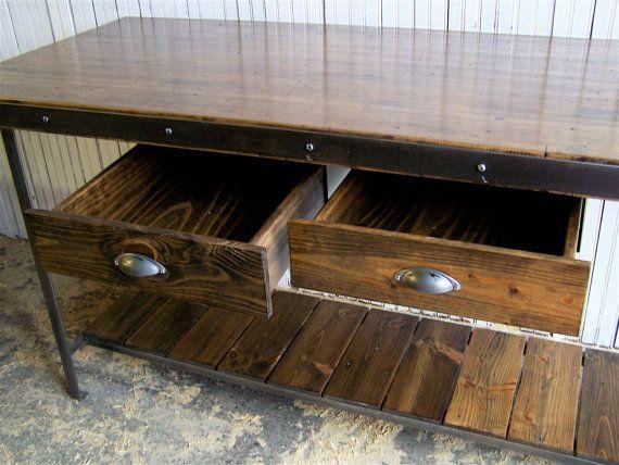 grand kitchen island work bench man cave by brooklynreclamation