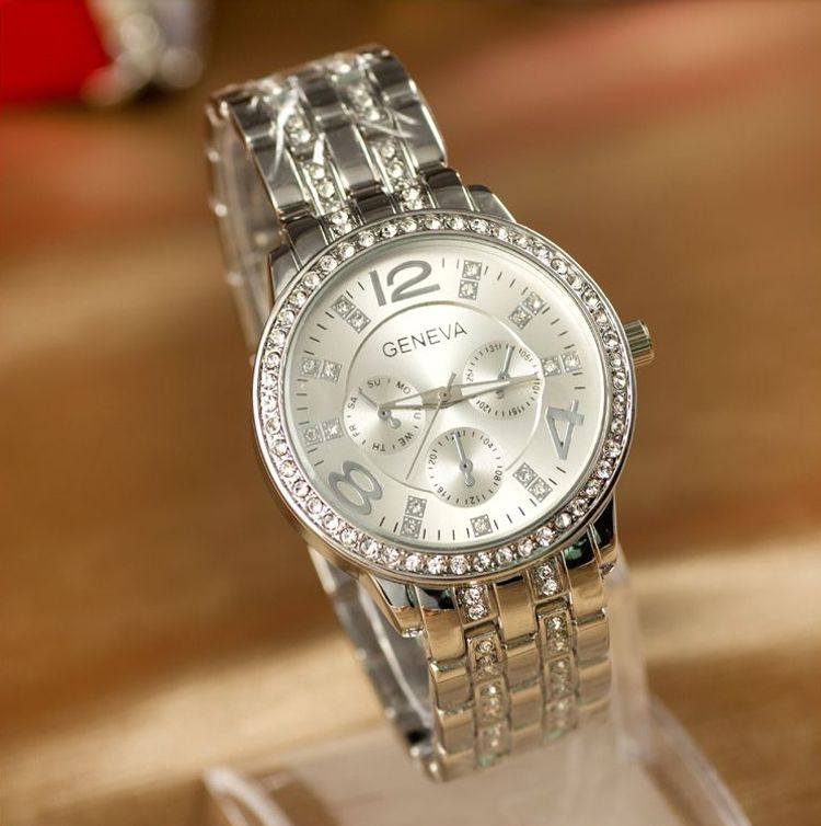 Reloj Geneva plata www.relojes-online.es | Relojes de mujer ...