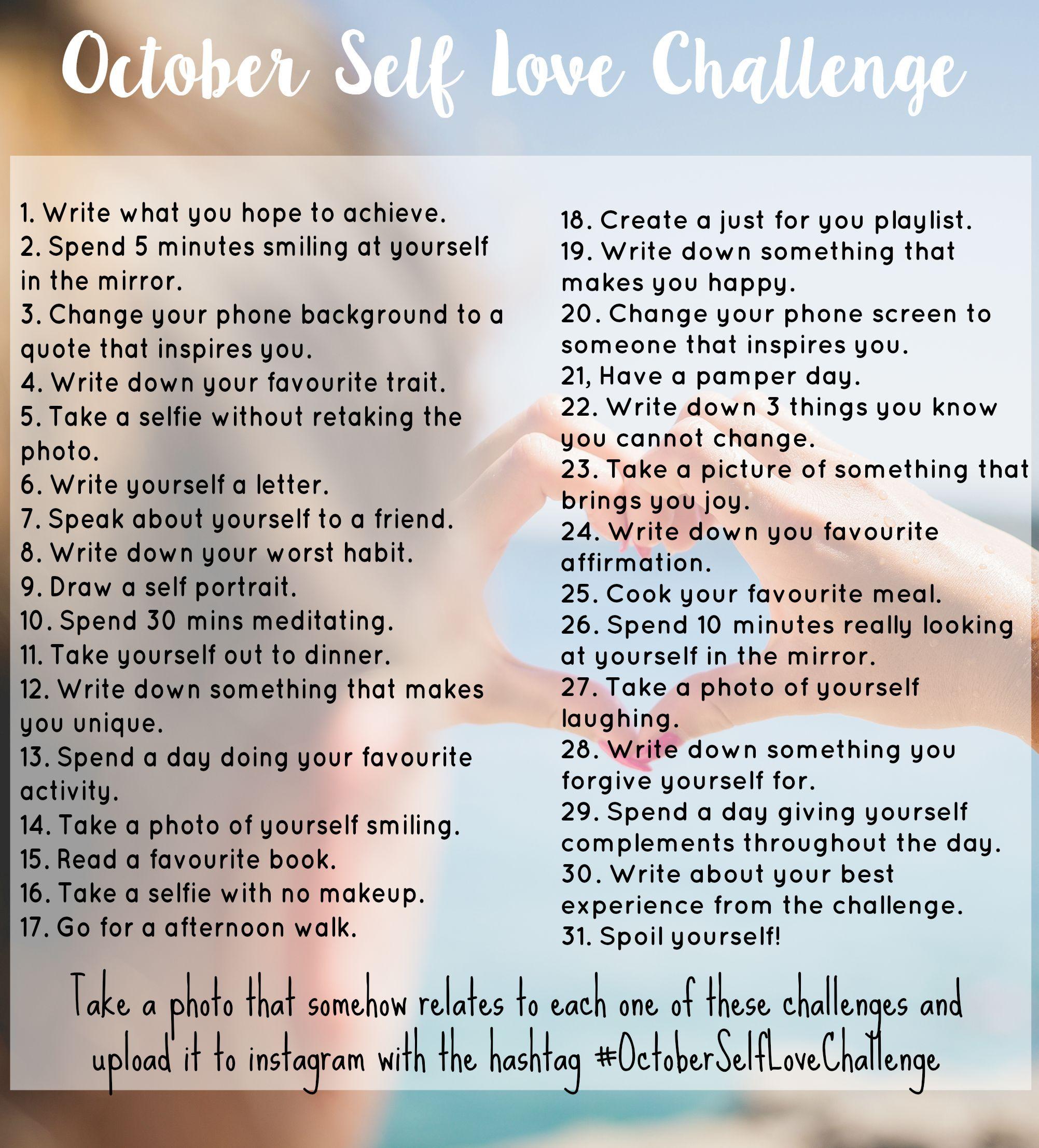October Self Love Challenge