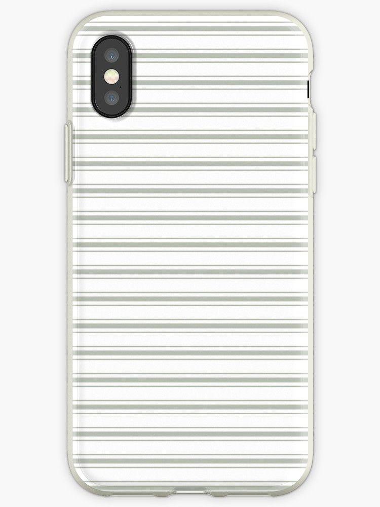 'Large Desert Sage Grey Green Mattress Ticking' iPhone