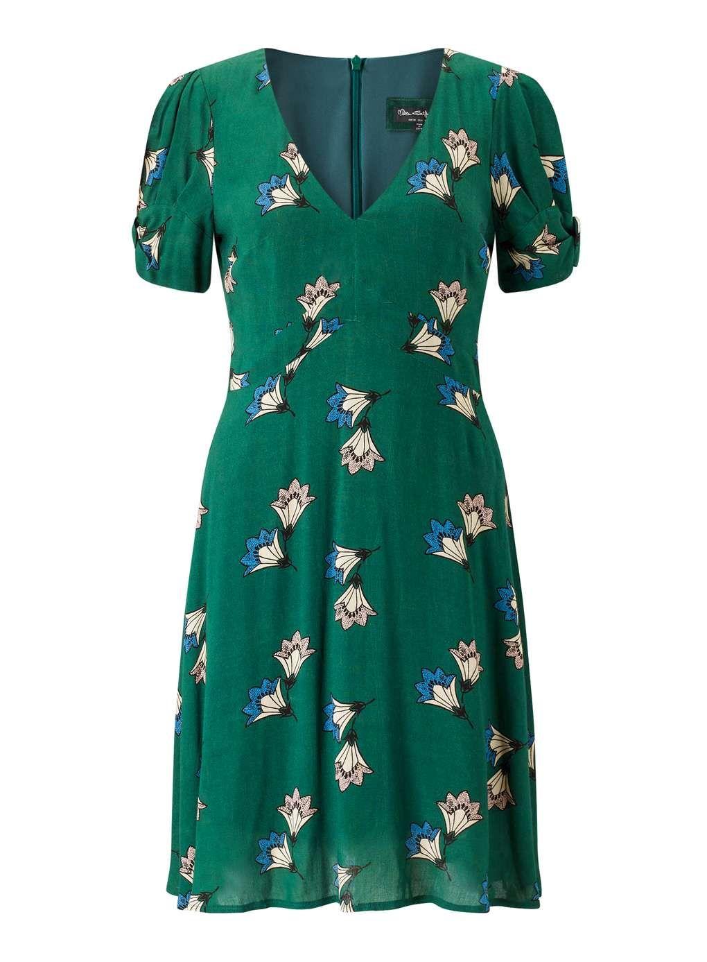 Printed Bow Sleeve Dress - View All - Dress Shop  92654444e