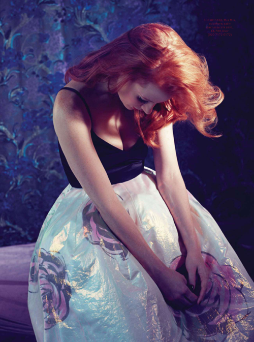 Jessica Chastain photographed by Micaela Rossato for Instyle UK, February 2013