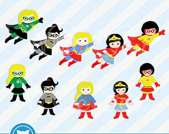 girl superhero clip art super hero girls digital clipart rh pinterest co uk baby girl superhero clipart girl superhero clipart free