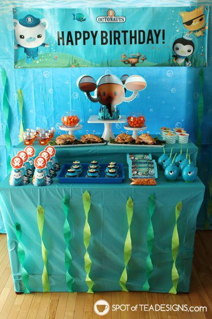 Octonauts Party Dessert Ideas Including A Free Printable To Make A Kwazii Jello Cup Spotofteades Octonauts Party Octonauts Birthday Octonauts Birthday Party