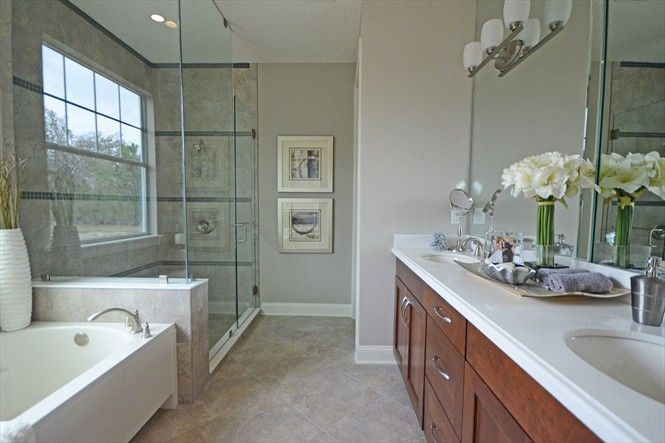 Model Home Bathroom master bathroom staging in mattamy homes rivertown model