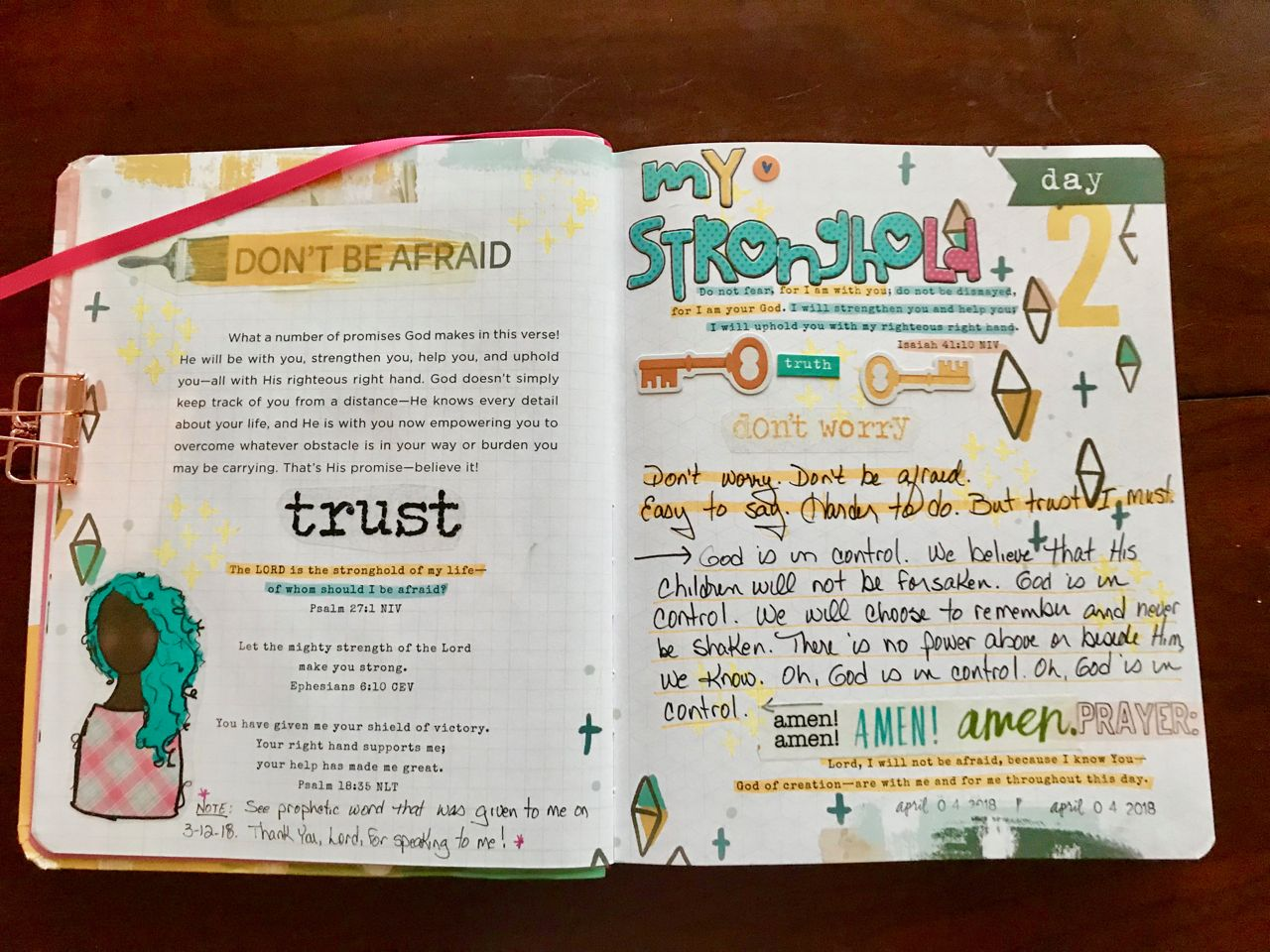 2 100 Fear Not God Is My Stronghold And So I Need Not Be Afraid I Can Trust Him In Every Moment Of Every Day Bible Promises Soap Bible Study Illustrated Faith