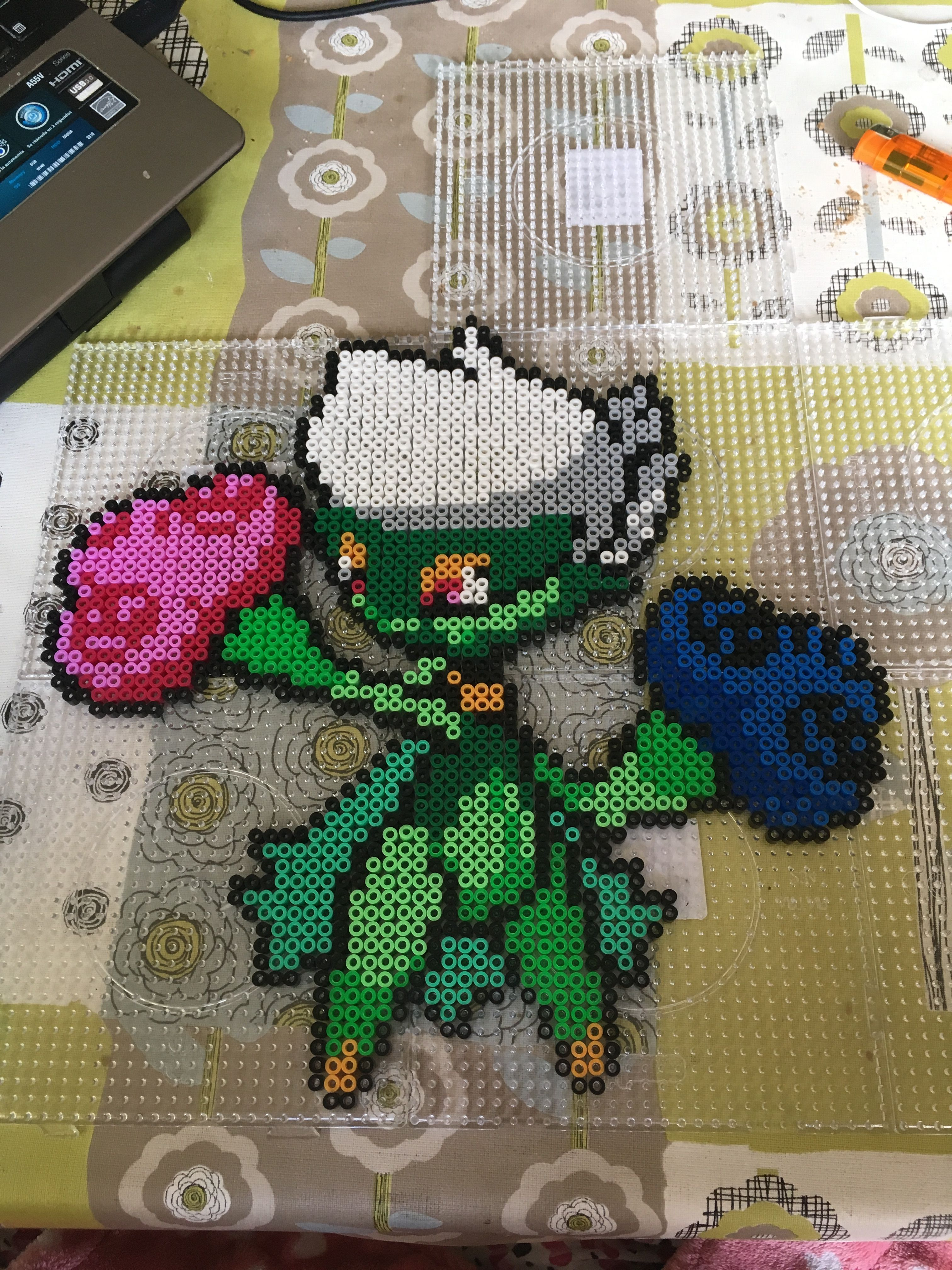 Roserade hama perler by lightning | Pokemon and Digimon