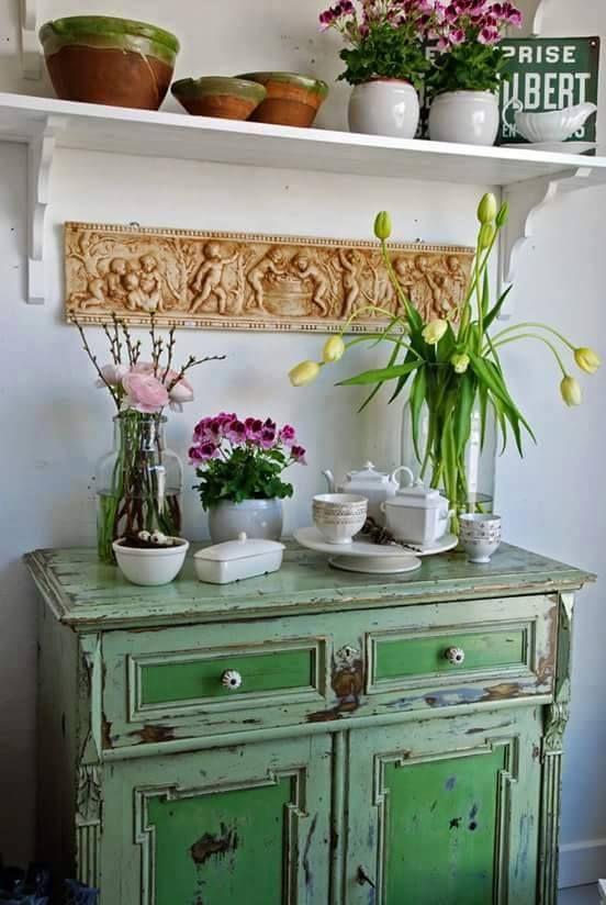 A La Campagne Decoration De Cuisine Mobilier De Salon Deco Rustique