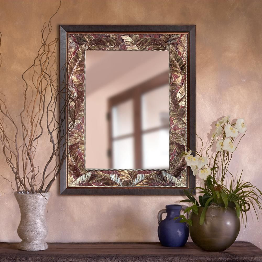 Tropical Leaf Rectangle - Decorative Mirror | Copper ...