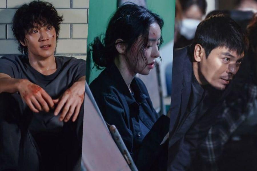 """Lee Da Hee, Kim Rae Won, And Kim Sung Oh Display Passionate Efforts On Set Of """"L.U.C.A.: The Beginning"""""""
