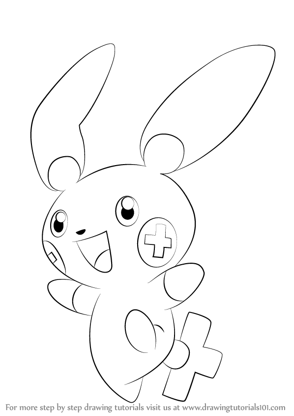 Plusle Is A Cream Color Bipedal Character From Pokemon In This Tutorial We Will Draw Plusle From Pokem Pokemon Coloring Pages Pokemon Coloring Pokemon Sketch