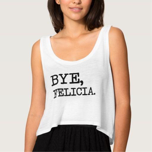 Bye Felicia Funny women's crop top
