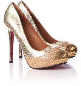 Ella gold high heels