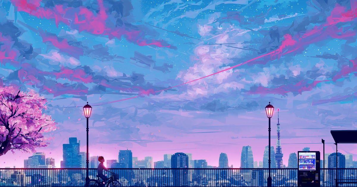 16 Aesthetic Anime Wallpaper Sky 90s Anime Aesthetic Desktop Wallpapers Wallpaper Desktop Wallpaper Art Anime Backgrounds Wallpapers Cute Desktop Wallpaper