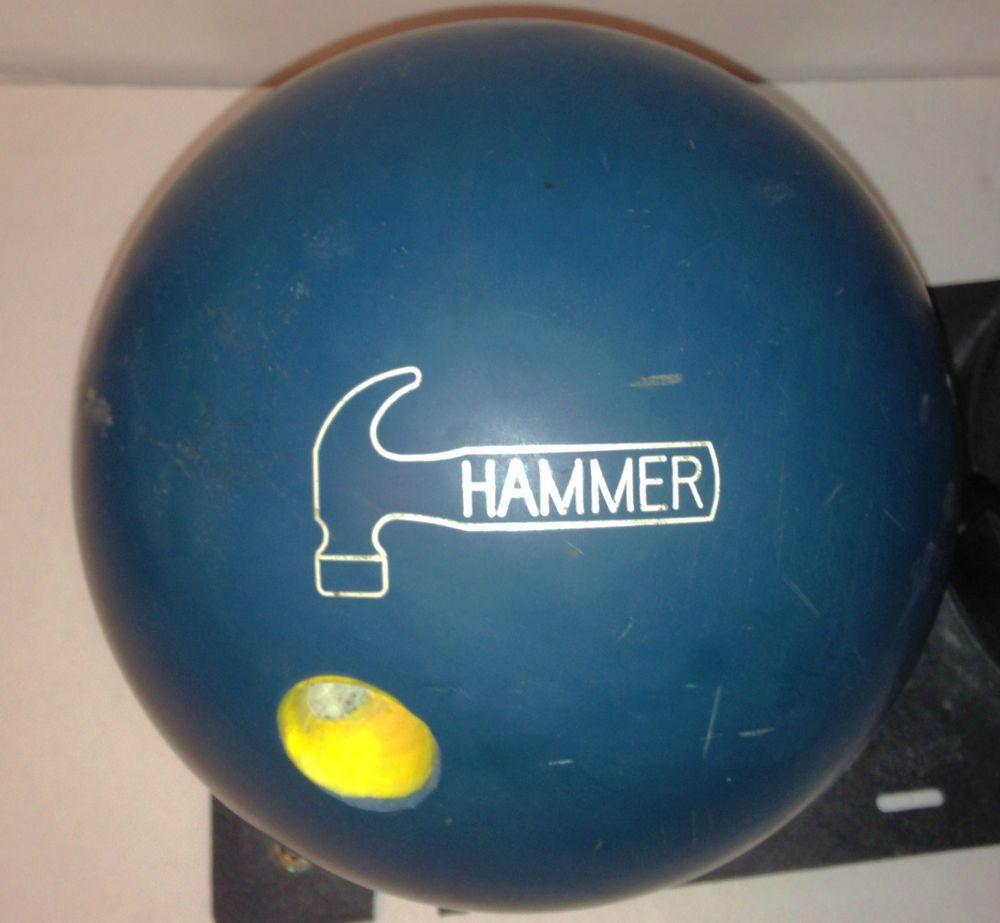 Vtg Faball Original Blue Hammer Urethane Pre Drilled 16 Lb