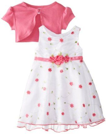 Youngland Baby Girls Infant Organza Floral Detail Dress Price