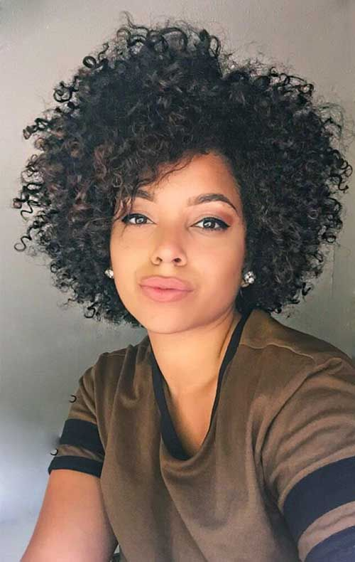 32 Short Natural Curly Hairstyle Jpg 500 790 Pixels Short