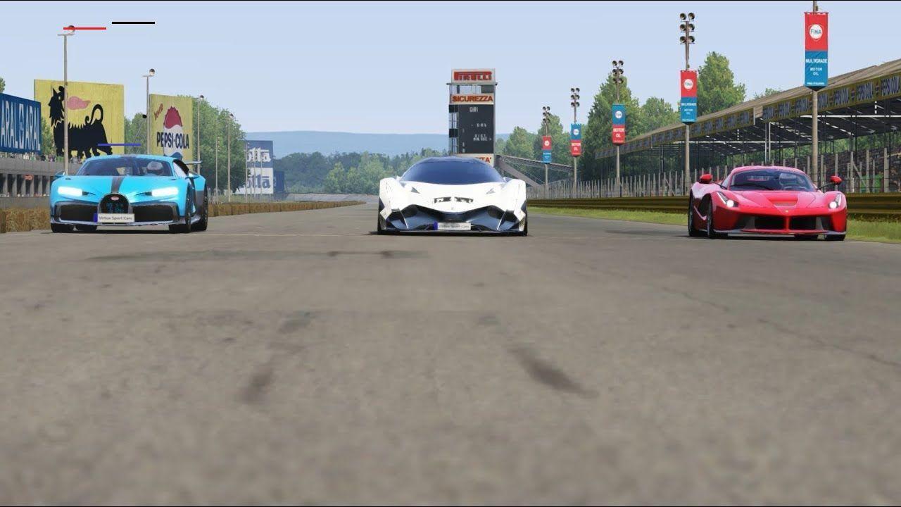 Bugatti Pur Sport Vs Devel Sixteen Vs Ferrari Laferrari At Monza Full Course Ferrarilaferrari I 2020