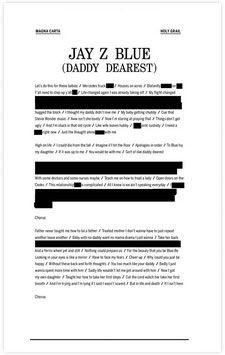 Jay Z Blue (Daddy Dearest): sampling Mommy Dearest = brilliant.
