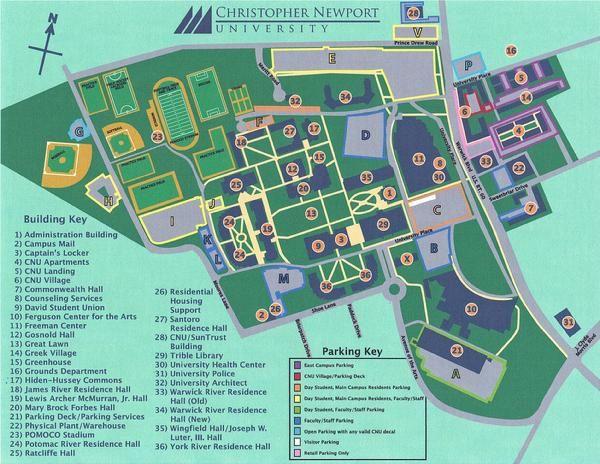 Cnu Campus Map Discover CNU through this GPS  MAP | CNU | Pinterest | Gps map and Map Cnu Campus Map