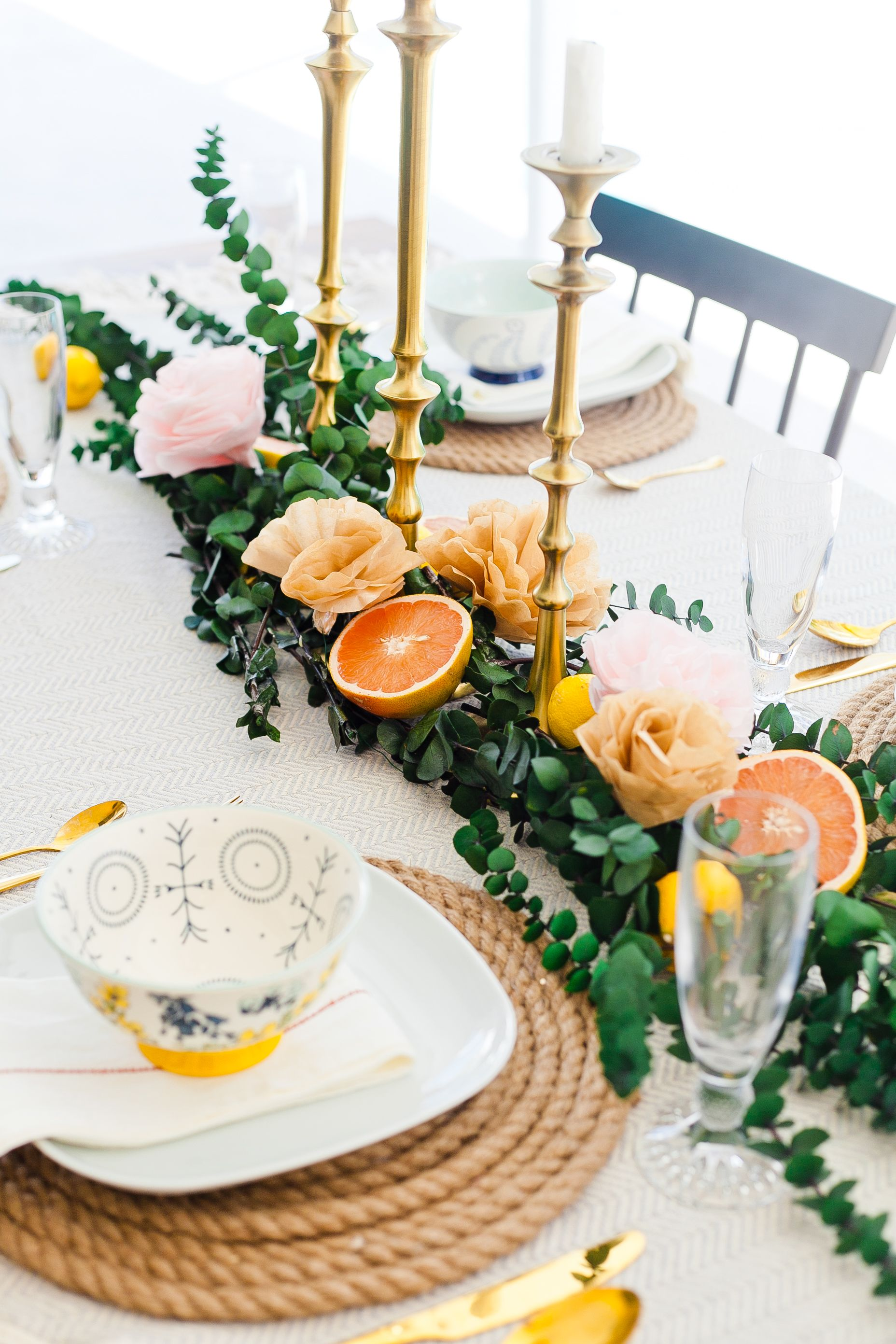 Everyday Summer Tablescapes How To Make Easy Diy Paper Flowers