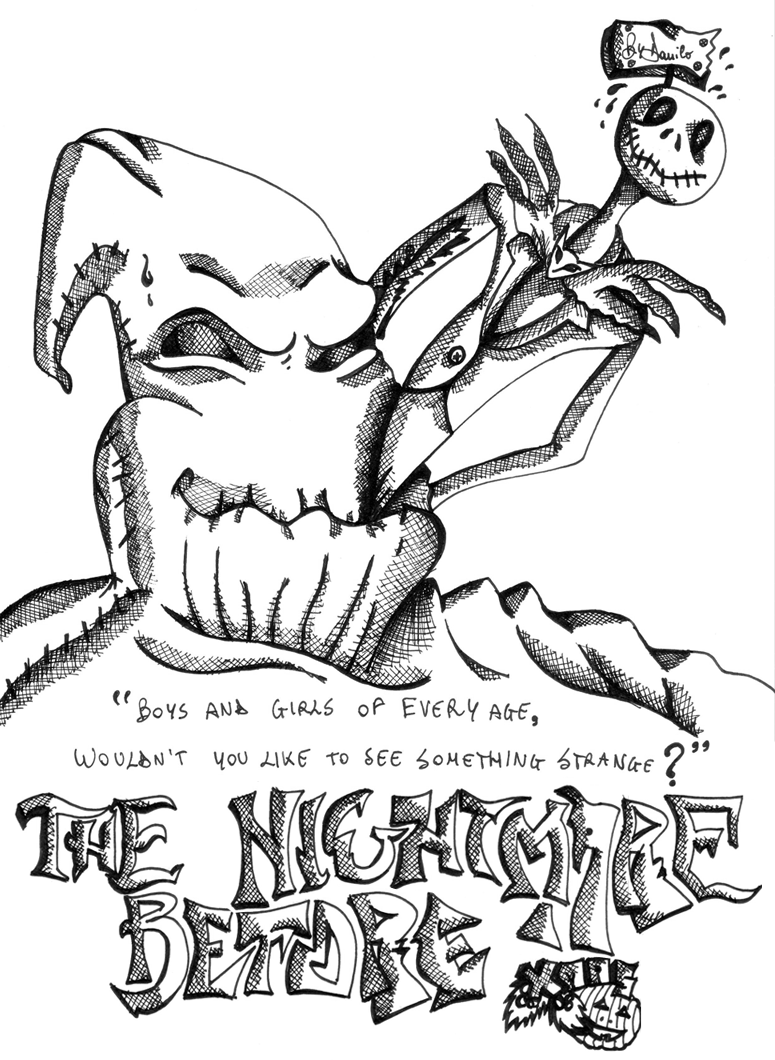 the nightmare before christmas by danigfx - Nightmare Before Christmas Coloring Book