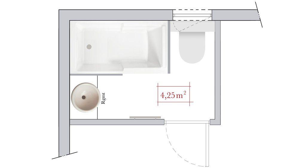 Conseils du0027architecte  4 plans de salle de bain rectangulaire