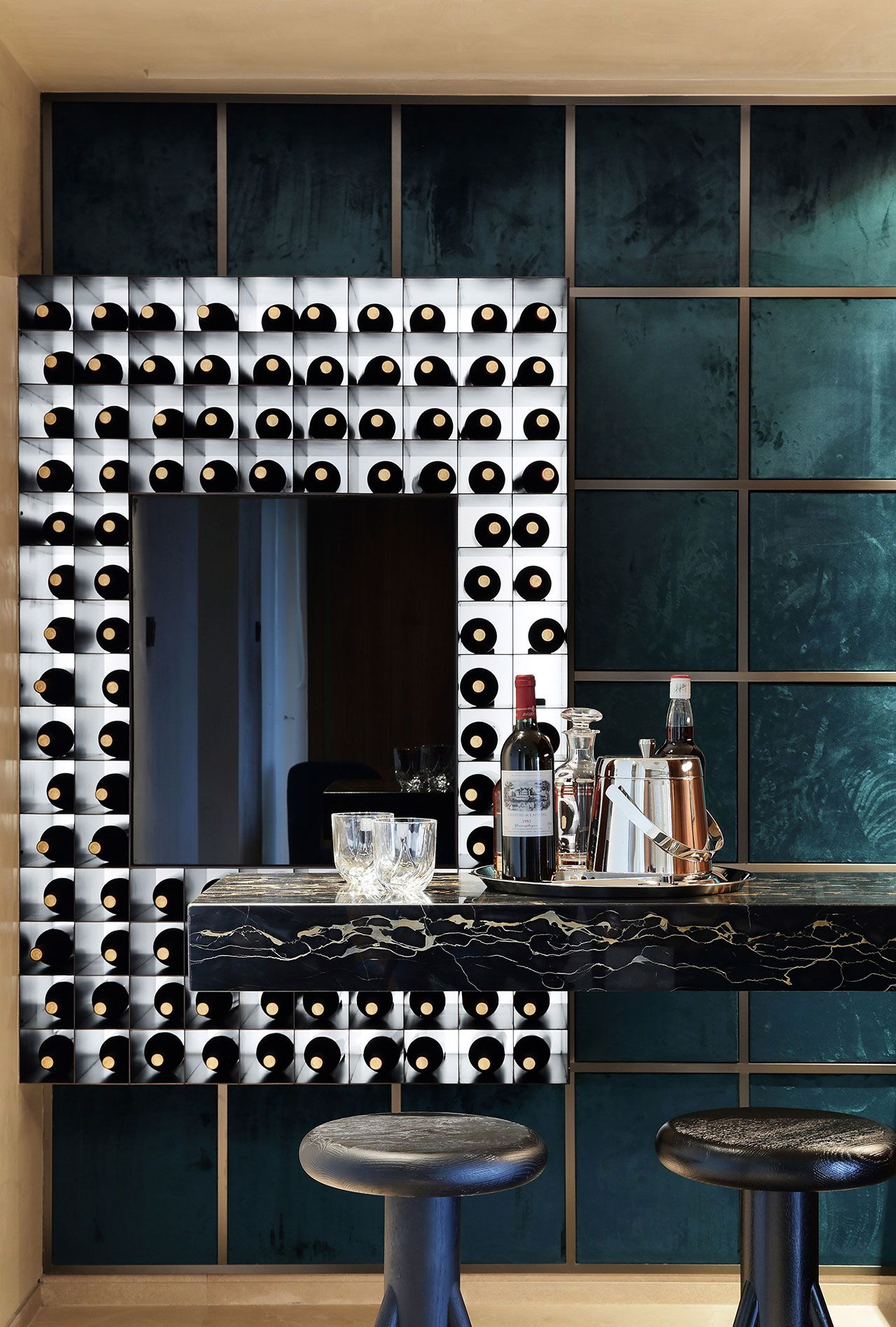 Western Design and Eastern Lifestyle Interplay in a Family Apartment in  China. Bar LoungeContemporary Interior ...