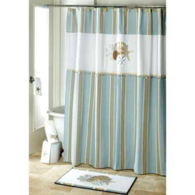 Avanti By The Sea Bath Shower Curtain Found At Jcpenney White