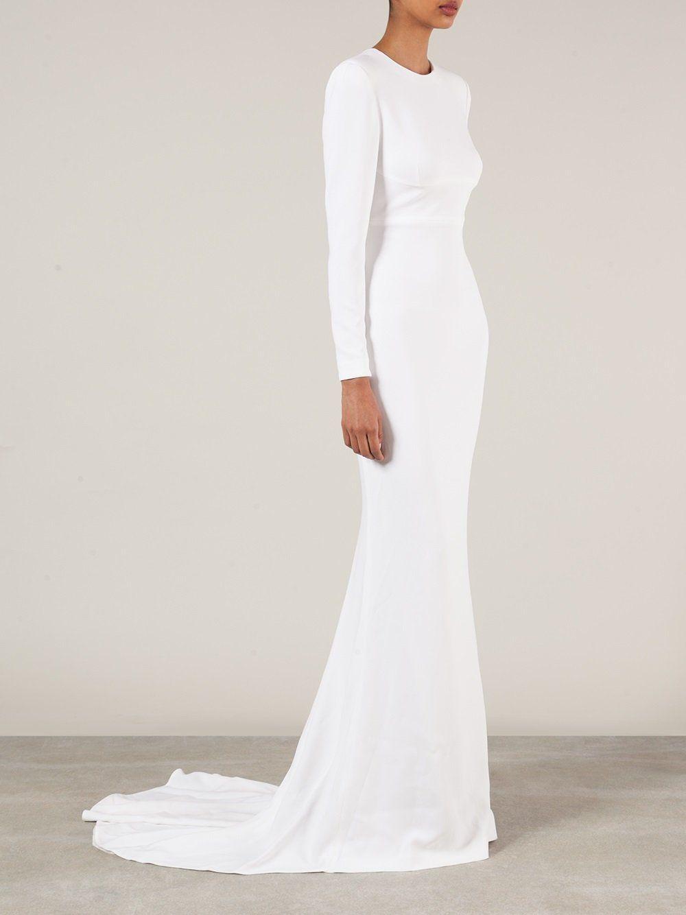 Stella McCartney Brautkleid mit langen Ärmeln  Brautkleid lange