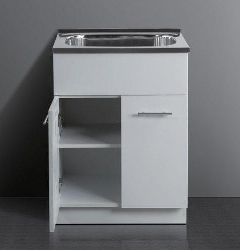 Utility Sink with Cabinet Base laundry tub and cabinet laundry