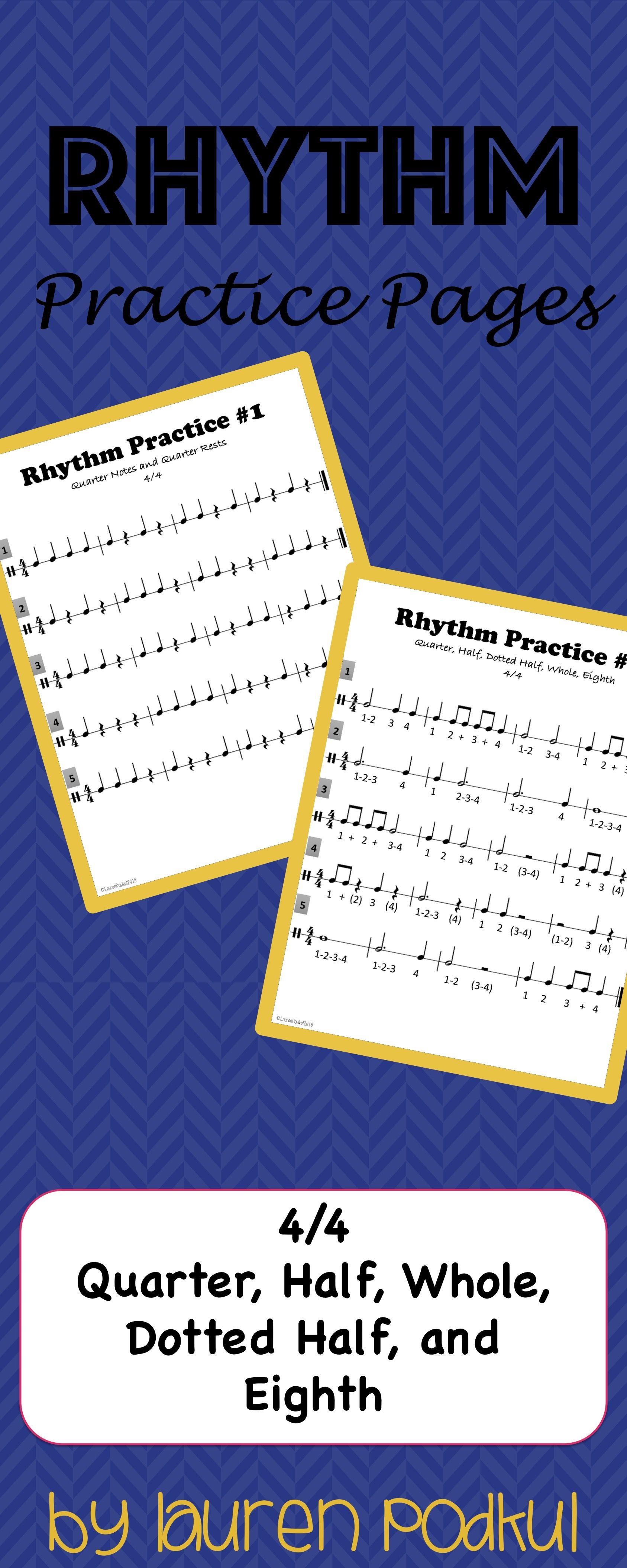 Rhythm Practice Worksheets 1