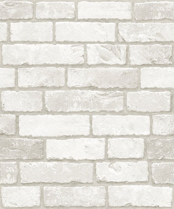 White Real Brick Pattern Vinyl Self Adhesive Peel Stick Wallpaper No 633 Brick Patterns Diy Interior Decor White Brick