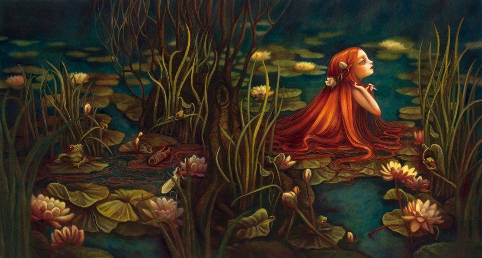 by Benjamin Lacombe [redhead lily pad]